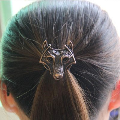 UK Stock FREE P/&P Viking Wolf Elastic Hair Band
